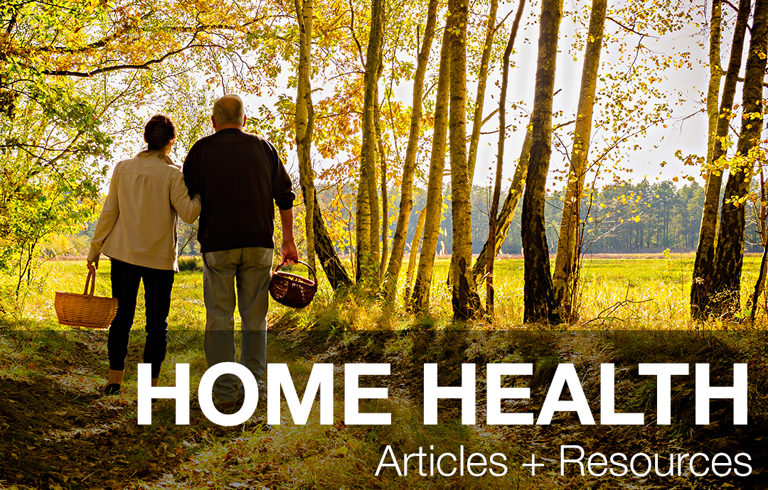 Home Health - Couple Walking in Woods