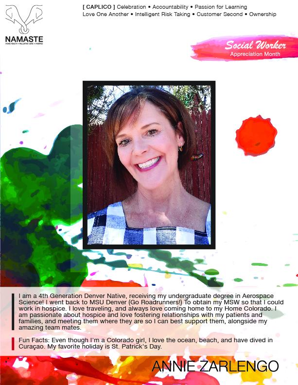 Annie Zarlengo : Social Worker Appreciation